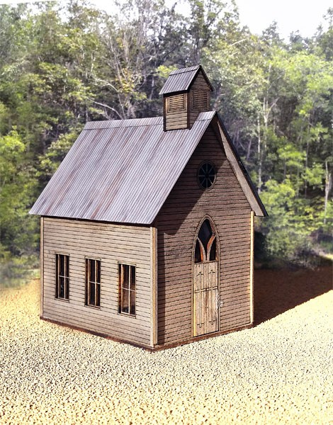 Country Church - Small Structure Kit (O Scale 1:48)