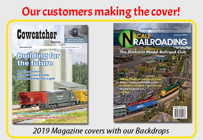 Trackside Scenery - Featuring Model Railroad Backdrops - Trackside